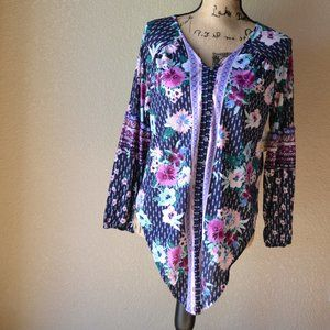 NWT Style & Co Long Sleeve Blouse Size MP